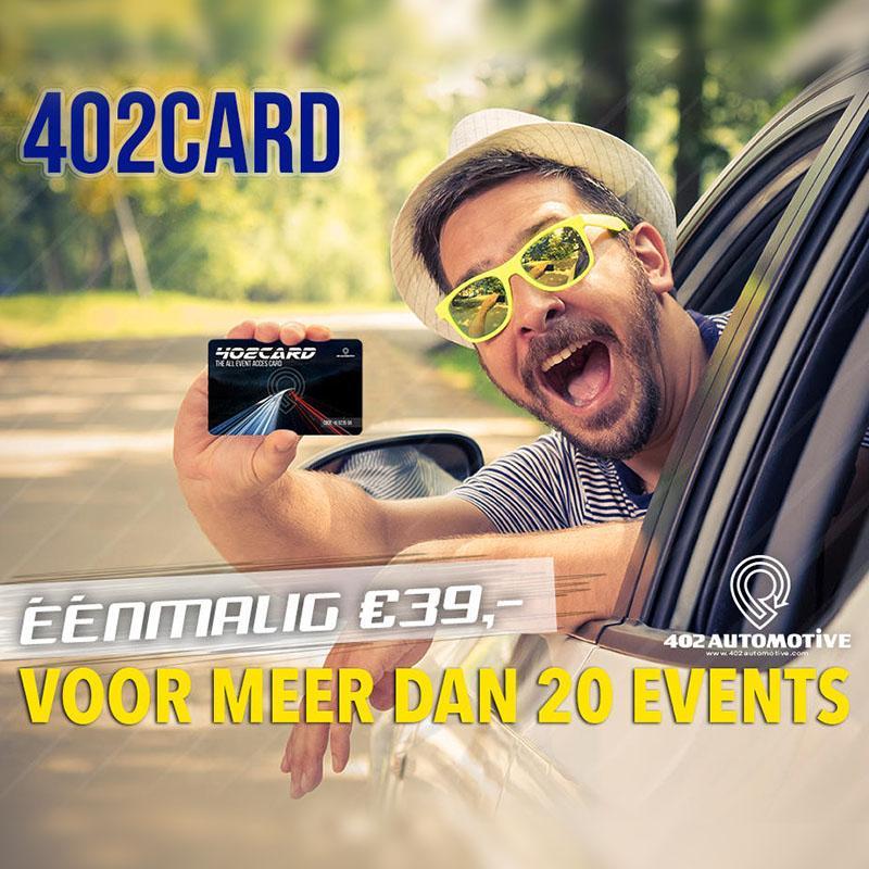 Met de 402 Card voortaan ook naar 100% Auto Live
