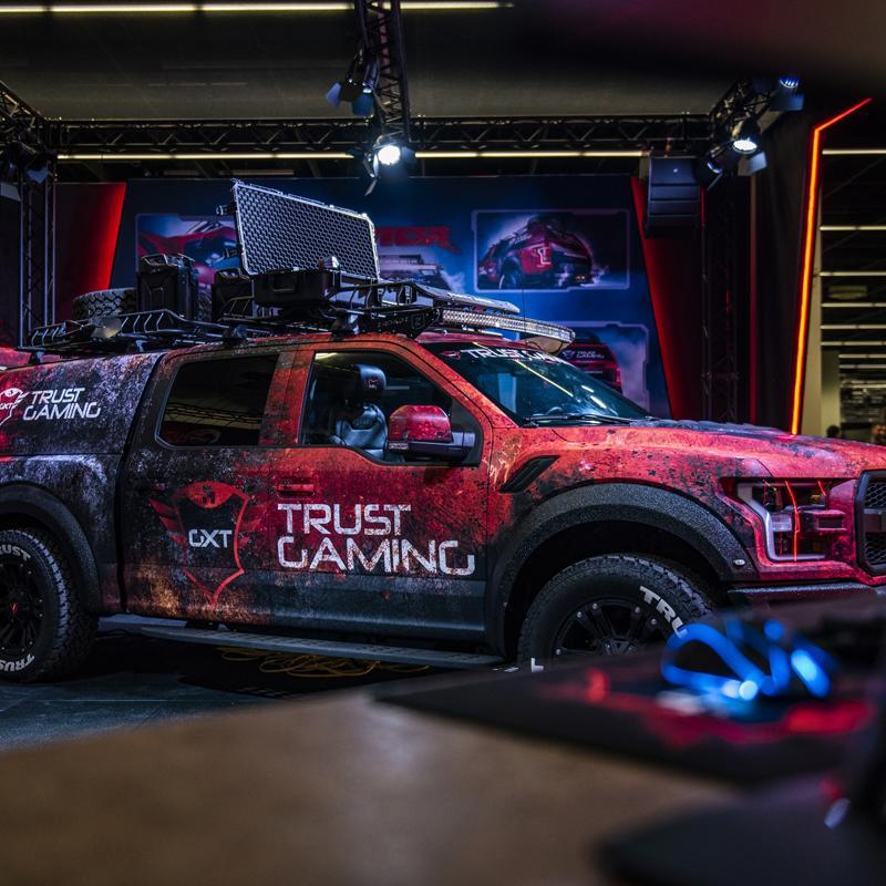 Trust Gaming GXT Raptor aanwezig tijdens 100%