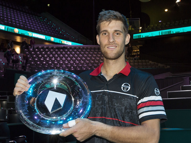 Klizan verrassende winnaar ABN AMRO World Tennis Tournament