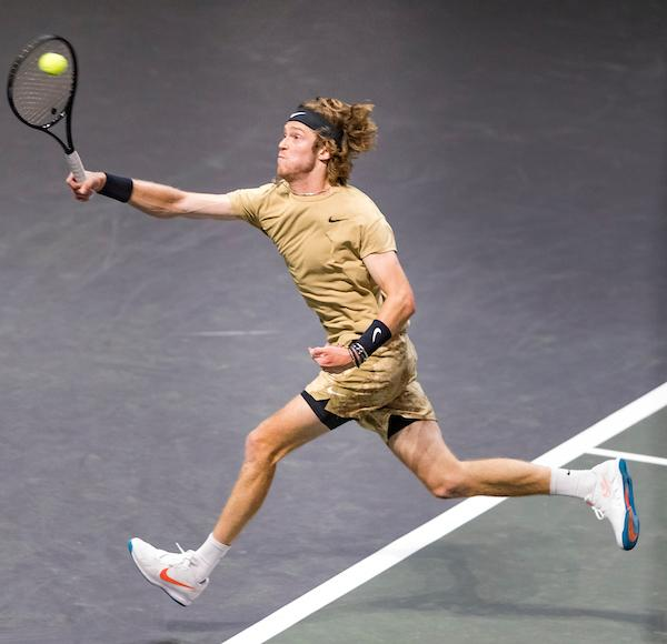 Rublev reaches final after defeating Tsitsipas