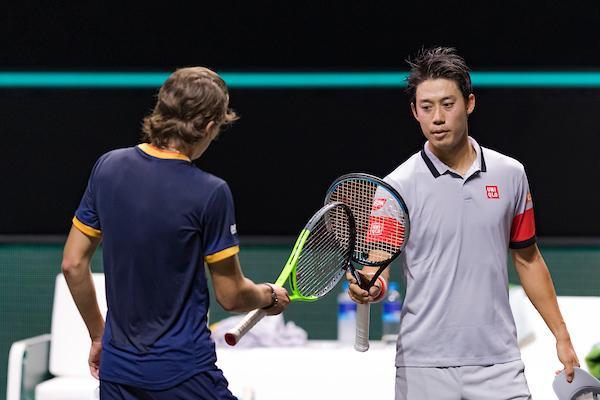 Kei Nishikori eerste kwartfinalist