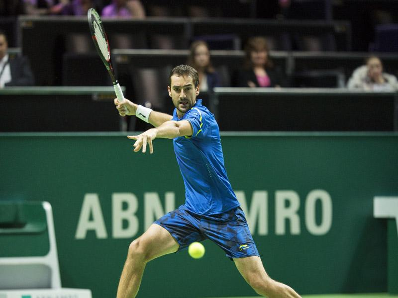 Marin Cilic en Borna Coric naar het ABN AMRO World Tennis Tournament 2017