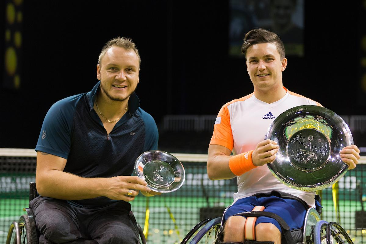 Titelprolongatie Gordon Reid tijdens Wheelchair Tournament