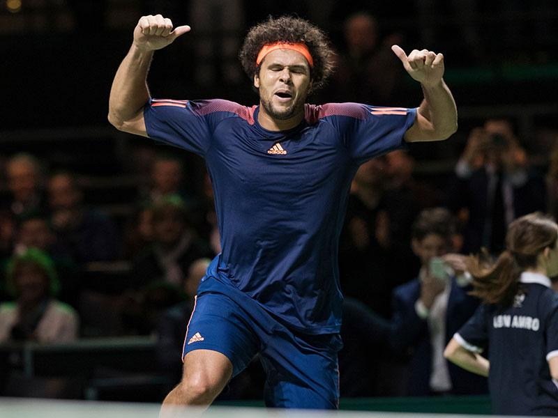 Showman Jo-Wilfried Tsonga in topvorm langs Marin Cilic