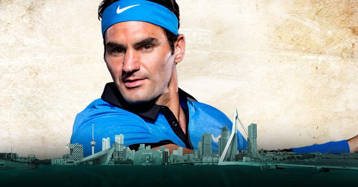 20-voudig Grand Slam winnaar Roger Federer naar 45e ABN AMRO World Tennis Tournament