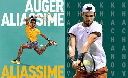 Khachanov and Auger-Aliassime return to Rotterdam