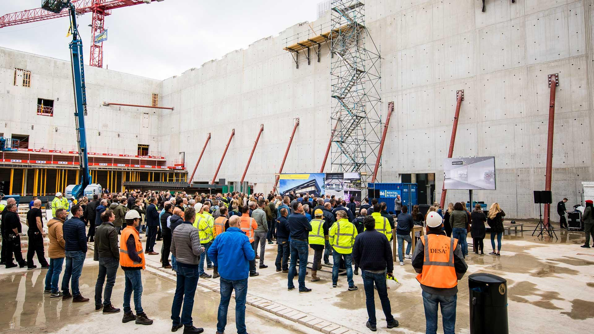 Rotterdam Ahoy reaches highest point in new construction of RTM Stage