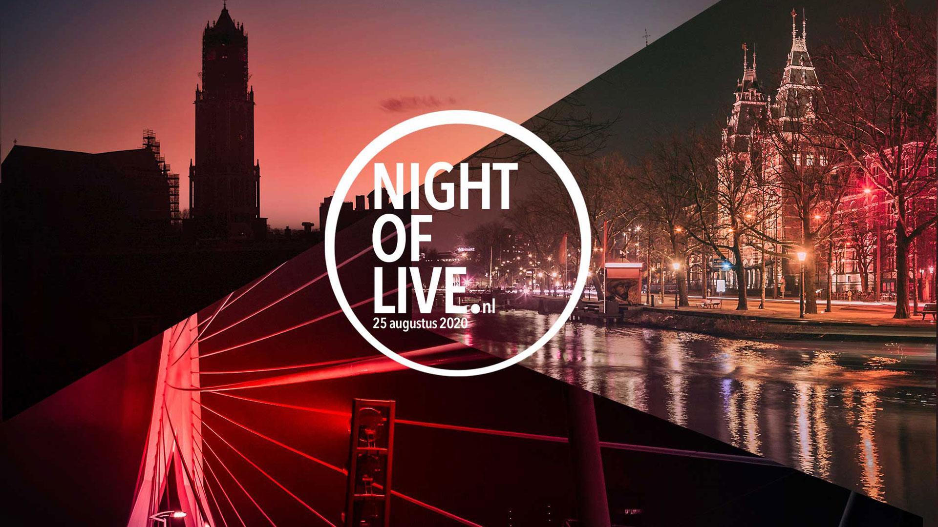Evenementenindustrie kleurt rood tijdens NIGHT OF LIVE op 25 augustus