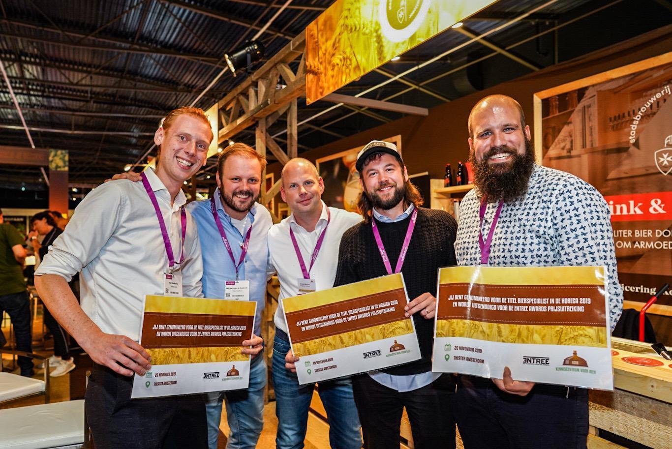 De 5 genomineerden voor de titel ''Bierspecialist in de horeca'' zijn bekend!