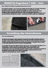 Bornit-Werk Aschenborn GmbH: BORNIT®-Fugenband 7 KSK
