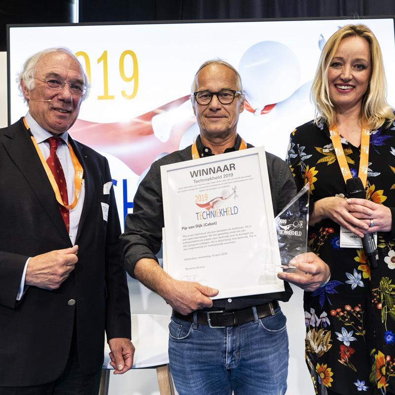 Pip van Dijk (Cabot) is Techniekheld 2019