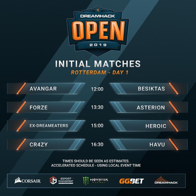 Initital matches DreamHack Open