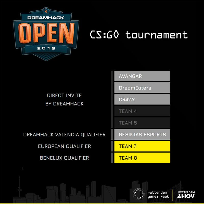 Next four teams confirmed for the DreamHack Open: CS:GO tournament