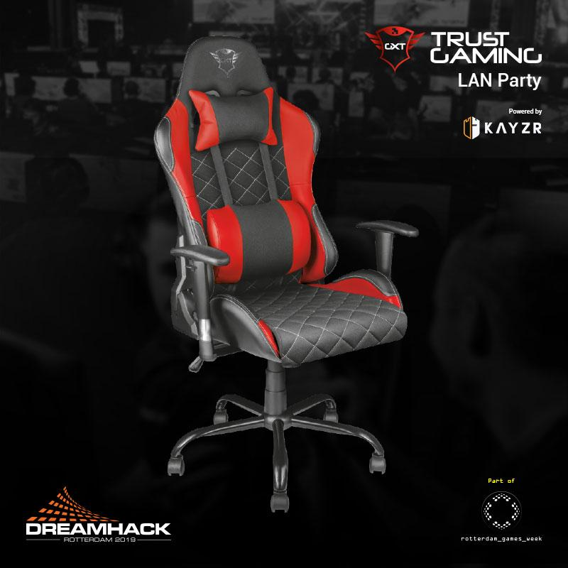 Trust Gaming Lan Party Chair Rental Now Open