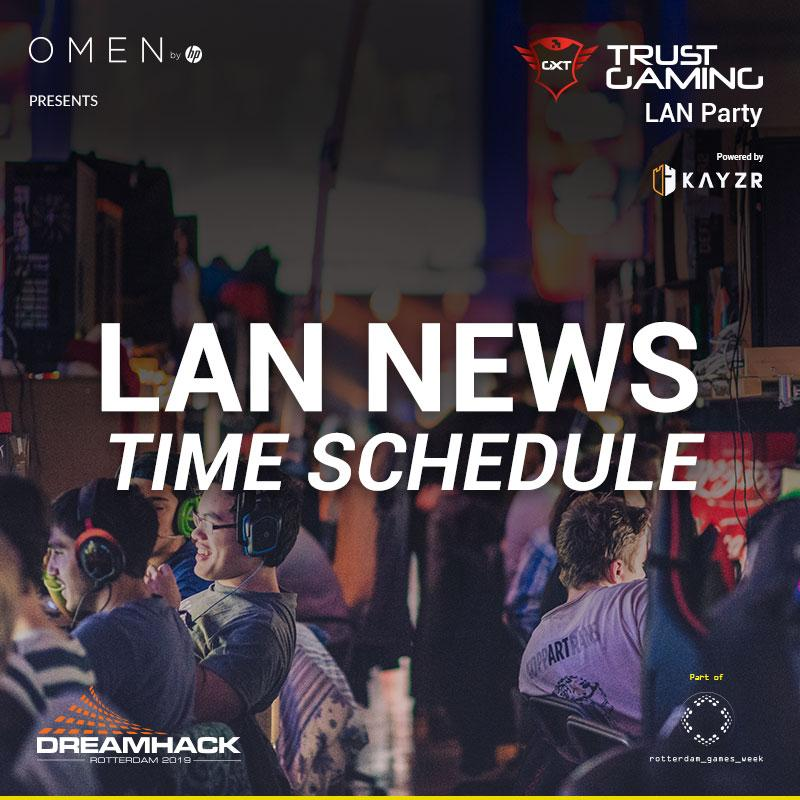 Time Schedule Trust Gaming LAN Party