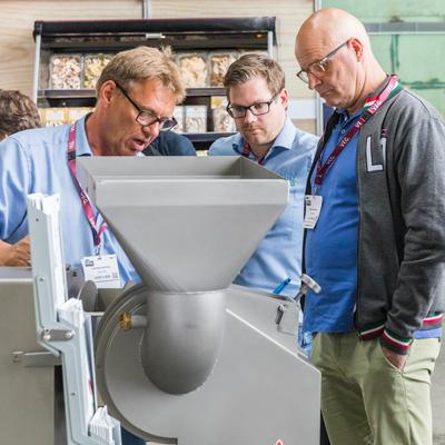 Groentenhelden toonden interesse in groentencentrifuges
